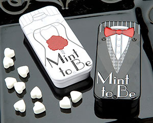 Mint to be Bride and Groom Slide Mint Tins