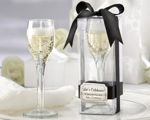 Let's Celebrate! Champagne Flute Gel Candle