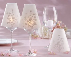 Cherry Blossoms Vellum Wine Glass Shade