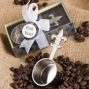 Fleur De Lis Design Coffee Scoop