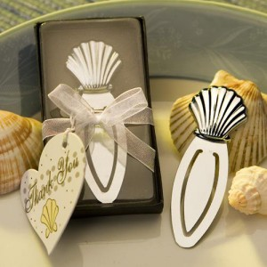 Chrome Seashell Bookmark