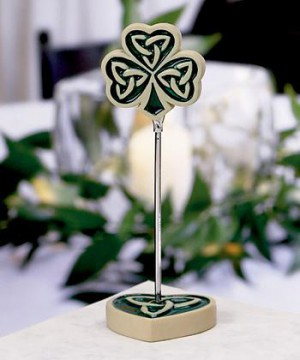 Shamrock/trinity Love Knot Placecard Holders