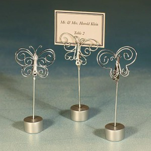 Butterfly Design Place Card Holders