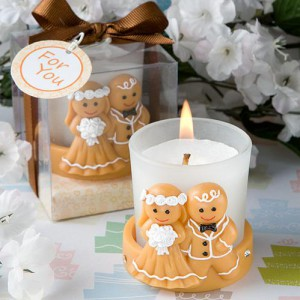 Adorable Gingerbread Bride And Groom Candle Holders