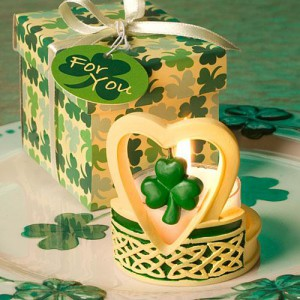 Shamrock Design Candle Favors