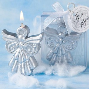 Silver Angel Candle Favors