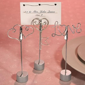Love Design Place Card Holder Favor