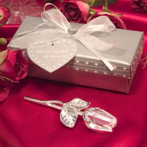 Choice Crystal Long Stem Rose Favor