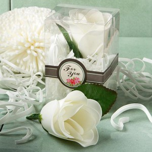 Elegant Rose Design Soap Favors