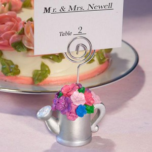 Watering Can Design Place Card Holder Favor