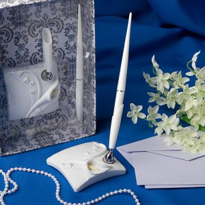 Calla Lily Design Wedding Pen Set