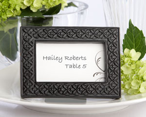 """Mod Black"" Place Card Holder/Photo Frame"