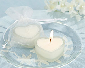 'HeartLights' Frosted Glass Heart Candles