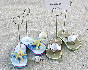 Beachcombers Flip Flop Placecard Holders