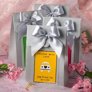 "Silver ""Delivered With Love"" Boxes From The Personalized Expressions Collection"