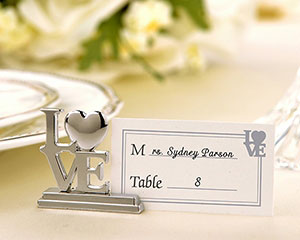 """LOVE"" Place Card Holder/Photo Holder with Matching Place Cards"