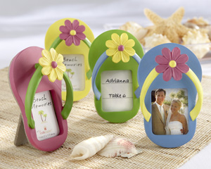 """Flip-Flop"" Photo Frame with Flower Accent"