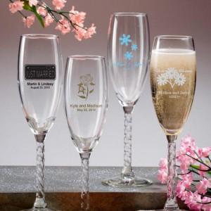 Champagne Flute With Twisted Stem
