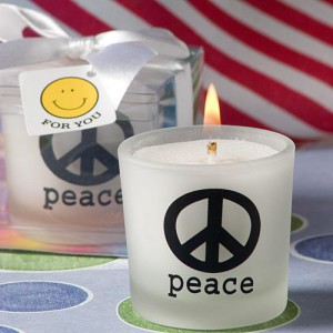 Peace Sign Candle Favors