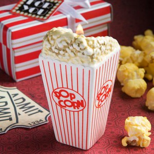 Movie Theater Popcorn Design Candle Holder Favors