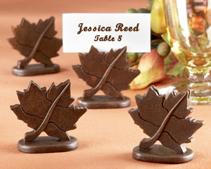 "Classic Maple-Leaf Place Card Holder (Set of 4) ""As Seen in Brides Magazine Sept/Oct 2008"""