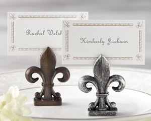 """Fleur-de-Lis"" Place Card/Photo Holder"