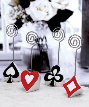 Poker Themed Place Card Holders