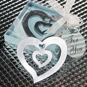 Heart Design Bookmark Favors