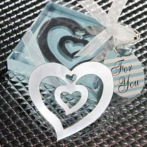 Heart Design Bookmark Favors