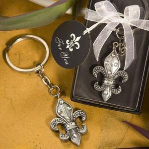 Fleur De Lis Design Key Chain Favors