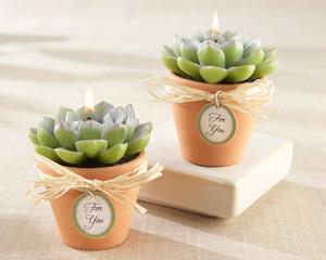 """""""Desert Rose"""" Cactus Candle"""