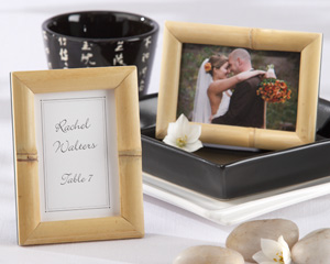 """Breezy Bamboo"" Eco-Friendly Photo/Frame Place Card Holder"