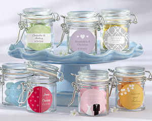 Personalized Glass Favor Jars - Wedding