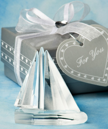 Choice Crystal Collection Sailboat Favors
