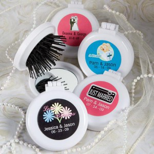 Personalized Expressions Collection Brush/mirror Compact Favors
