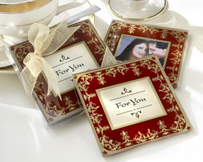 &quot;Imperial&quot; Exquisite Glass Photo Coasters