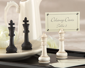 """Check Mate!"" King and Queen Place Card/Photo Holder"