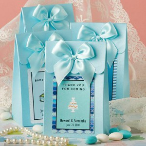 "Blue ""Delivered With Love"" Boxes From The Personalized Expressions Collection"