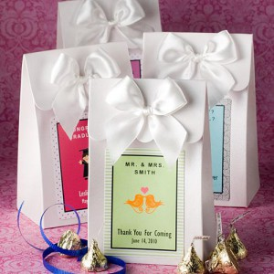 "White ""Delivered With Love"" Boxes From The Personalized Expressions Collection"