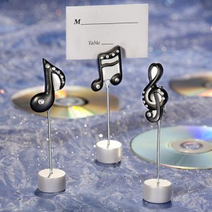 music theme wedding favors