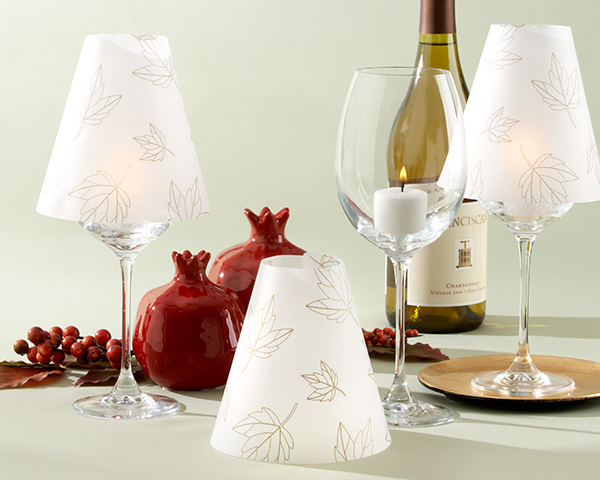 """Fall Leaves"" Vellum Shade (Set of 24)"