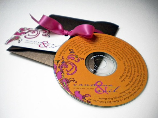 Personalized CD Wedding Favor
