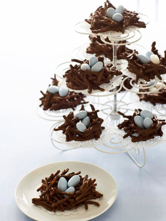 Chocolate Covered Pretzel Nest