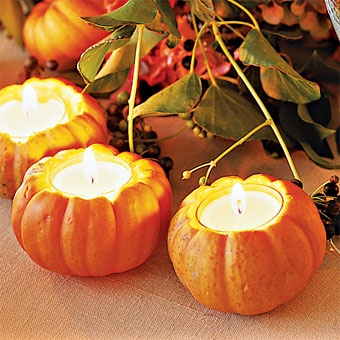 Pumpkin Candle Holder Centerpieces