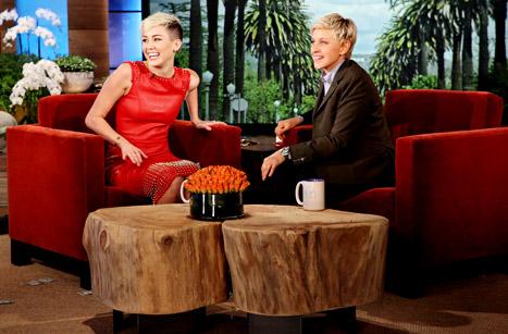 Miley Cyrus on Ellen