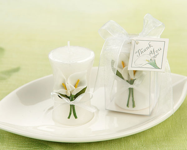 'Calla Lily Elegance' Vase Shaped Candle