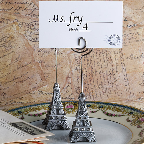 From Paris With Love Collection Eiffel Tower Place Card Holder Favors