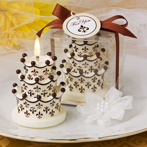 Fleur de Lis and Crown Design Cake Candles