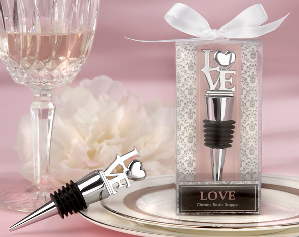"""LOVE"" Chrome Bottle Stopper"
