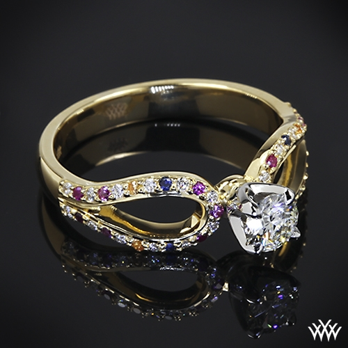 White Flash Engagement Ring